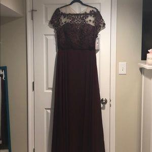 NWT Burgundy Gown